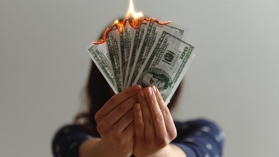Burning Money photo by @jpvalery at Unsplash